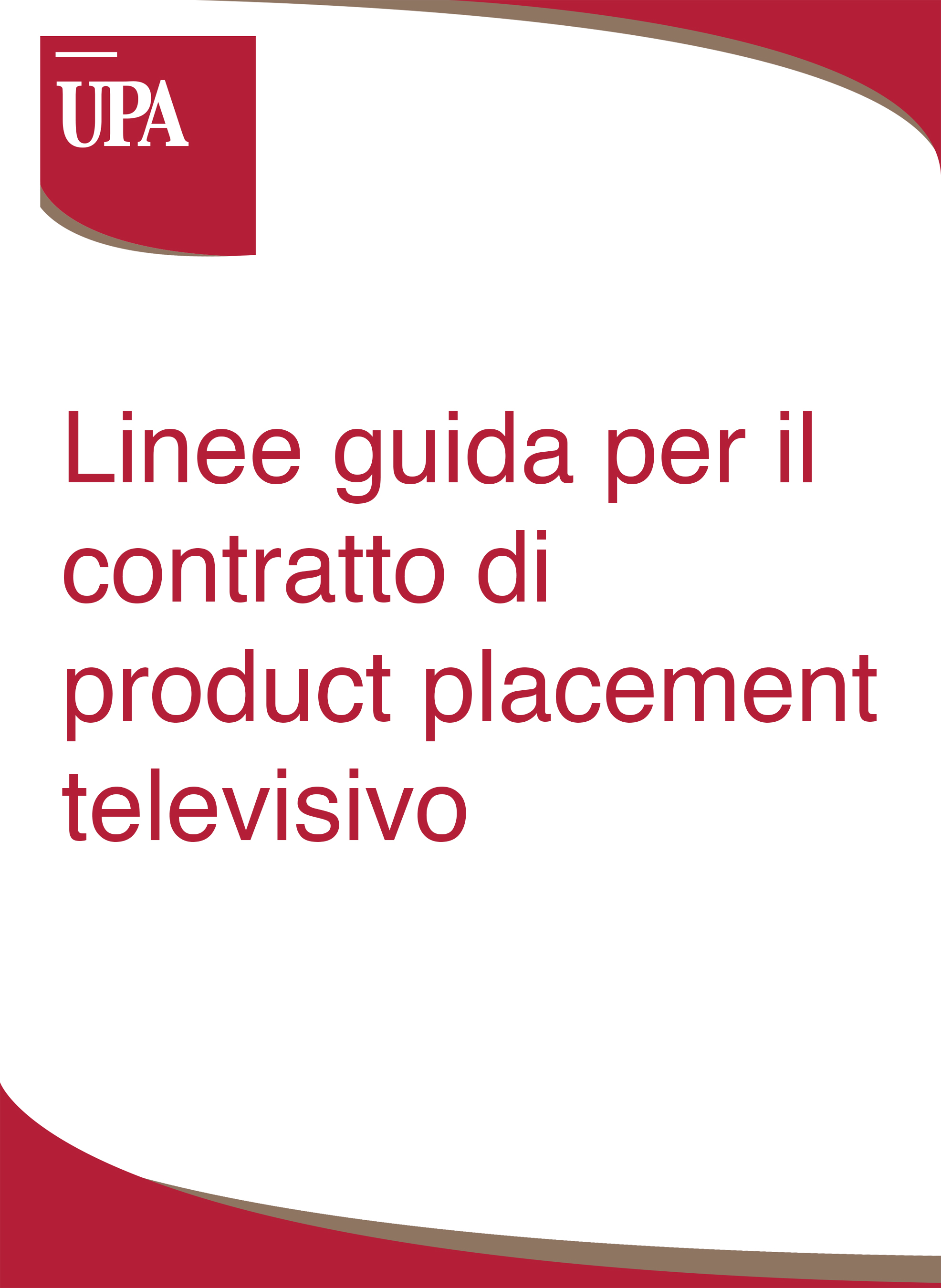 linee guida product placement